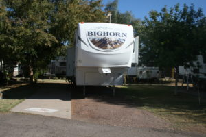 Our pull-through RV sites provide enough space for large RV and tow vehicles.