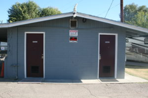 We have a year-around shower house and restroom available to all occupants and their guest.
