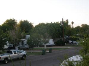 Each of our non-overflow RV sites provide wonderfully well-developed shade tree and concrete patios.