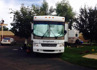 During our peak months, we offer overflow RV parking.