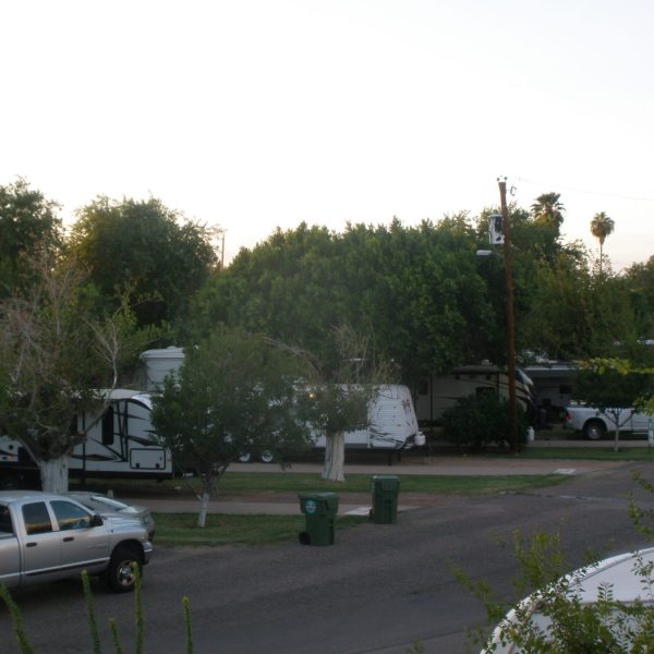 Beautiful, well-managed RV sites with large pull-through sites and concrete patios.